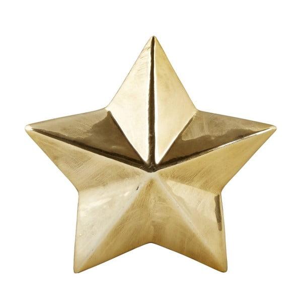 Dekoratívna keramická hviezda v zlatej farbe KJCollection Ceramic Gold