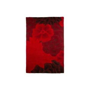 Vlnený koberec Eden 90 x 150 cm, červený