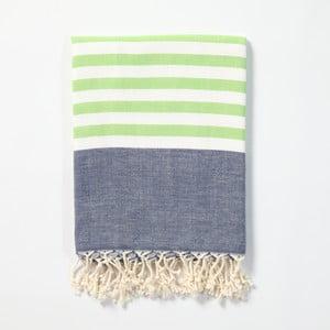 Hammam osuška z ručne tkanej bavlny ZFK Turid, 170 x 100 cm