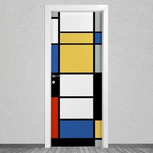 Samolepka na dvere LineArtistica Mondrian 2, 80×215 cm