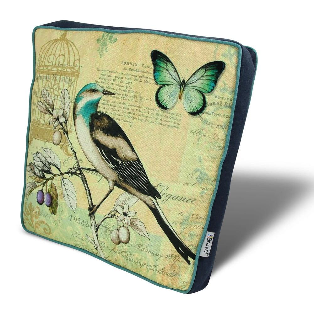 Vankúš na sedenie s výplňou Gravel Bird, 42 × 42 cm