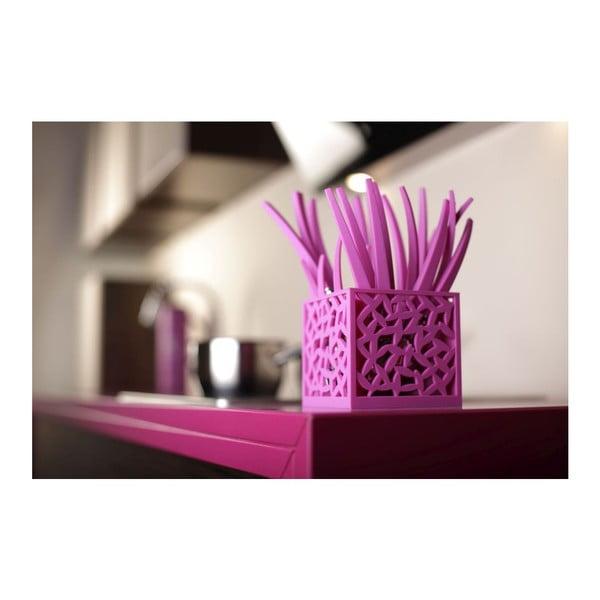 Fialová 24-dielna príborová sada Vialli Design Mia