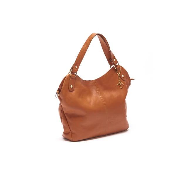 Kožená kabelka Renata Corsi 2114 Cognac