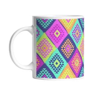 Keramický hrnček Colorful Triangels, 330 ml