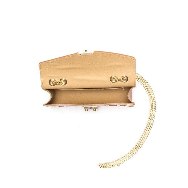 Kožená kabelka Anna Luchini 3044 Cognac
