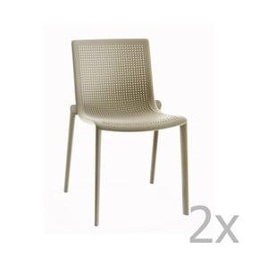Sada 2 pieskovohnedých záhradných stoličiek Resol Beekat