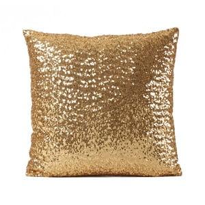 Flitrovaný vankúš Shiny Gold, 43 x 43 cm