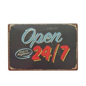 Ceduľa Open 24, 20x30 cm