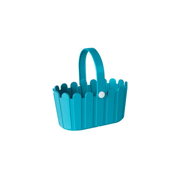 Kvetináč Landhaus Basket Turquoise