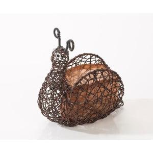 Dekoratívny ratanový kvetináč Brown Snail