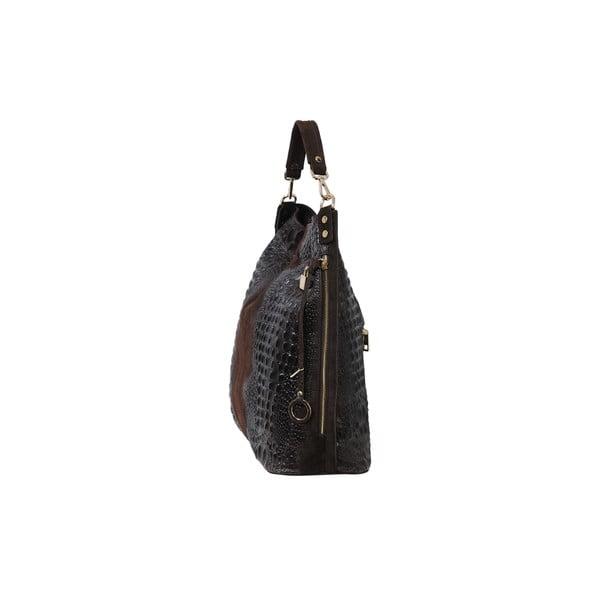 Tmavohnedá kožená kabelka Andrea Cardone 2011