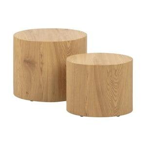 Sada 2 odkladacích stolíkov v dekore dreva Actona Mice
