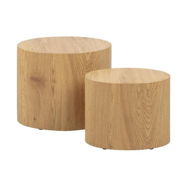 Sada 2 konferenčných stolíkov v dekore dreva Actona Mice