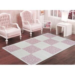 Púdrovoružový odolný koberec Vitaus Patchwork, 80x150cm