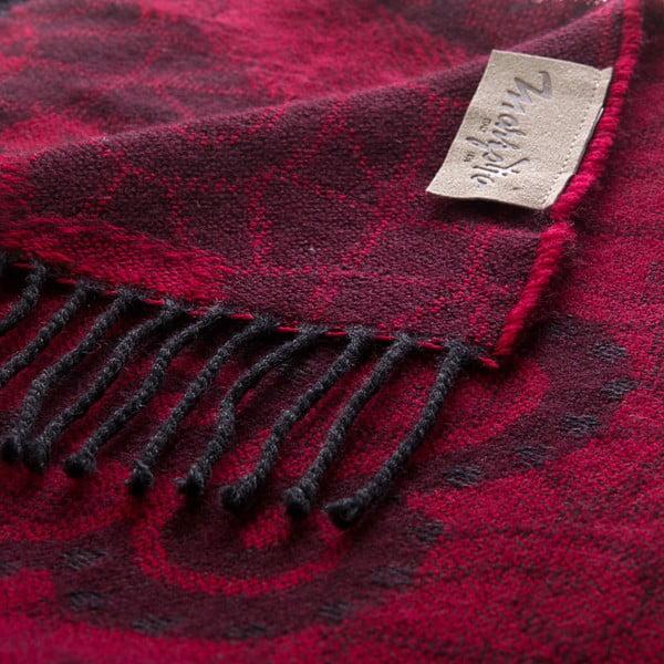 Vlnená prikrývka Rubino 130x180 cm, červená
