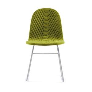 Zelená stolička s kovovými nohami IKER Mannequin V Wave