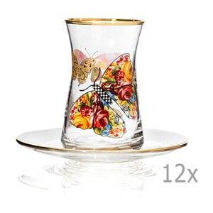Sada 12 pohárov s tanierikom Mezzo Pandaren, 100 ml