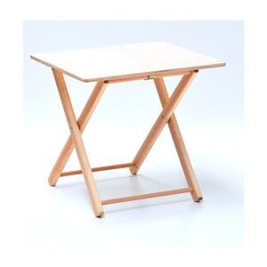 Skladací stolík z bukového dreva pre deti Valdomo, 50 x 37 cm