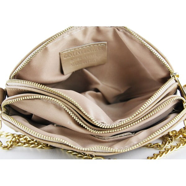 Kožená listová kabelka Gialina Taupe