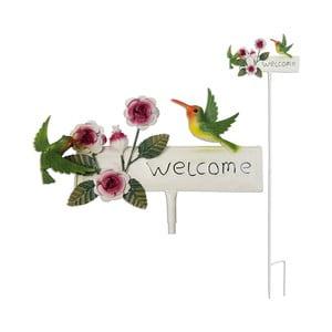 Zapichovacia ceduľa na záhradu Welcome, 119 cm