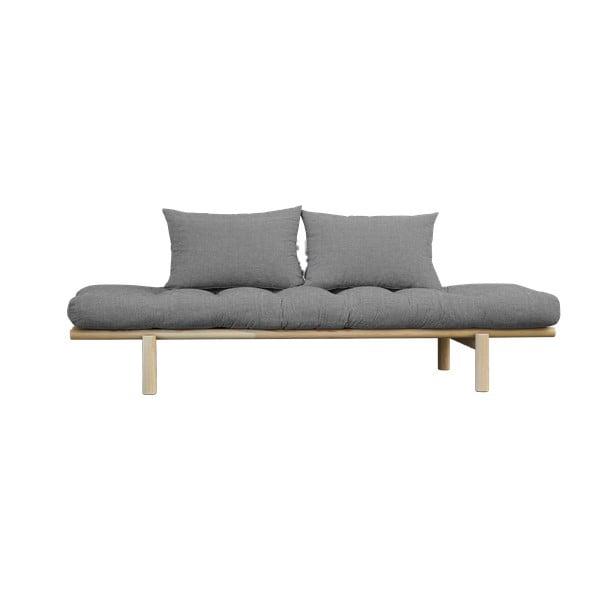 Pohovka so svetlosivým poťahom Karup Design Pace Natural/Granite Grey