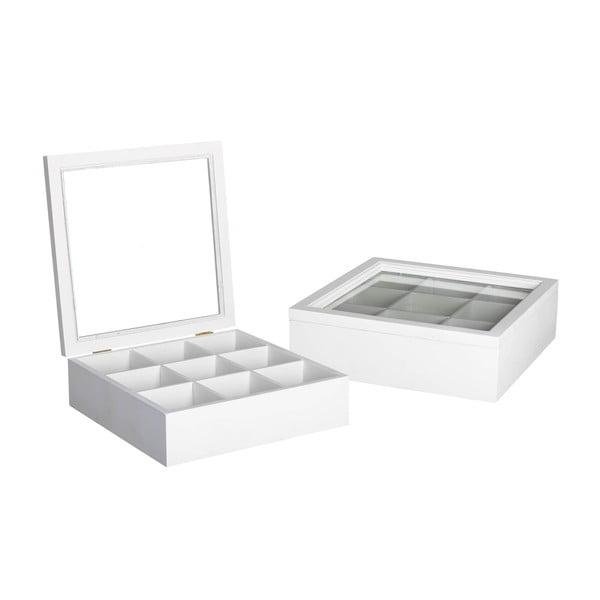 Krabička na čaj / šperkovnica White Box, 24x24 cm