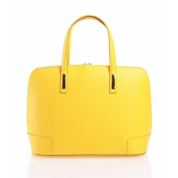 Kožená kabelka Olga, žltá