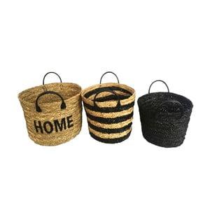 Sada 3 úložných košov z pleteného rákosia Maiko Home