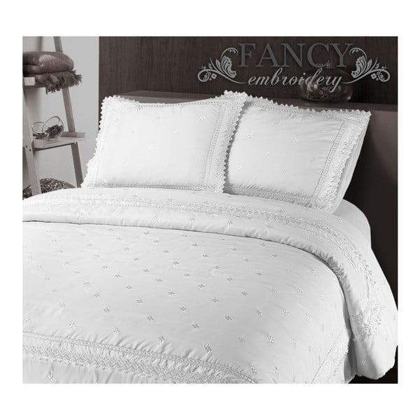 Biele obliečky z mikroperkálu Sleeptime Rio, 140×220 cm