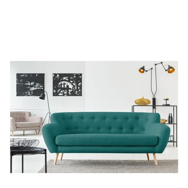 Zelenomodrá pohovka pre troch Cosmopolitan design London