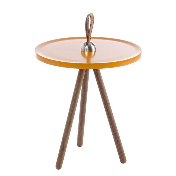 Odkladací stolík Leather Orange