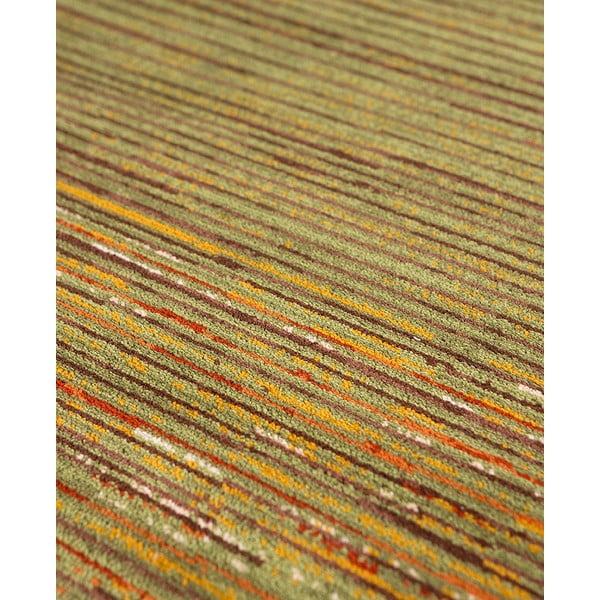 Vlnený koberec Coimbra no. 172, 67x200 cm, zelený