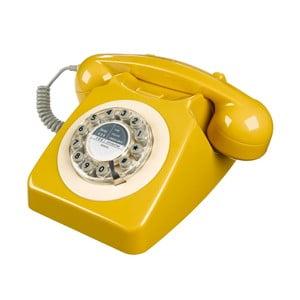 Retro funkčný telefón Serie 746 Mustard