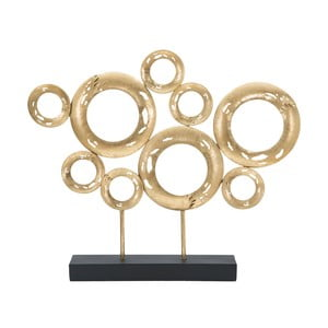 Dekorácia v zlatej farbe Mauro Ferretti Circle, výška 41 cm