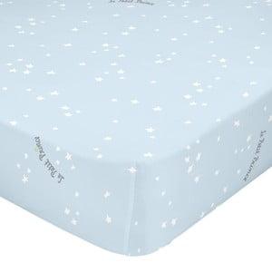 Svetlomodrá elastická bavlnená plachta Mr. Fox Son Monde, 90 x 200 cm