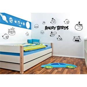 Samolepka na stenu Angry birds, čierna