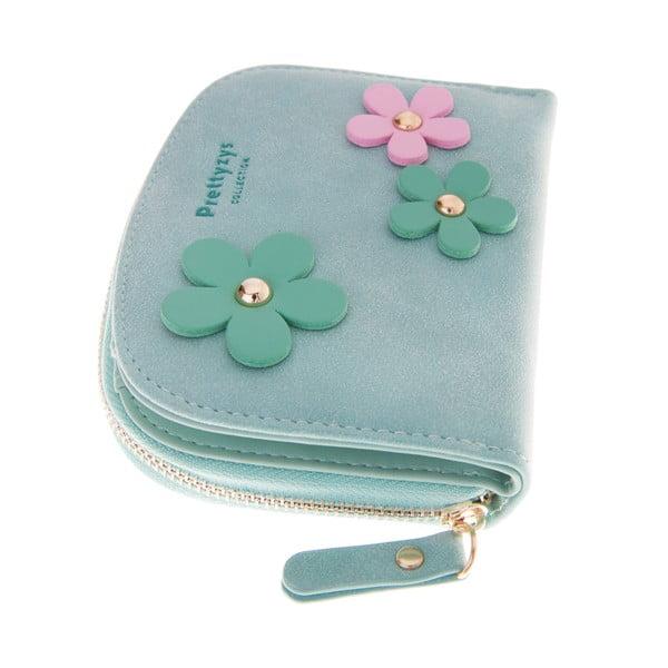Malá peňaženka Wild Flowers, zelená