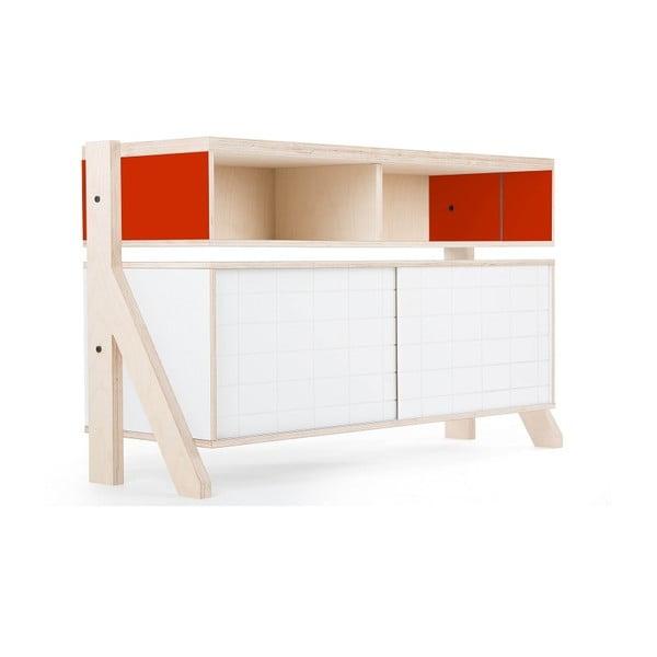 Oranžová vyššia komoda rform Frame