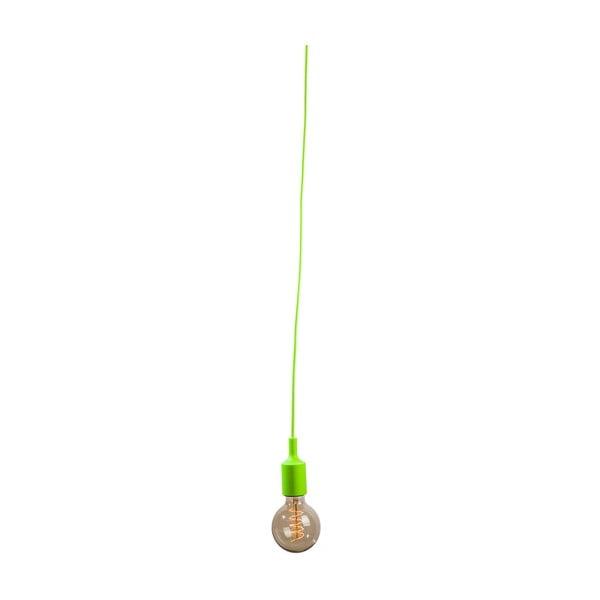 Textilný kábel s objímkou 1,5 m - zelený