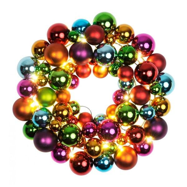 Svietiaca dekorácia Ball Wreath