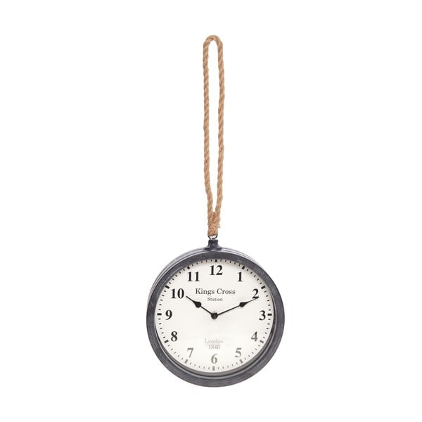 Nástenné hodiny InArt Savier, čierne