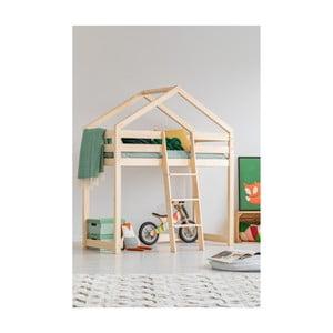 Domčeková poschodová posteľ z borovicového dreva Adeko Mila DMPA, 80 × 180 cm