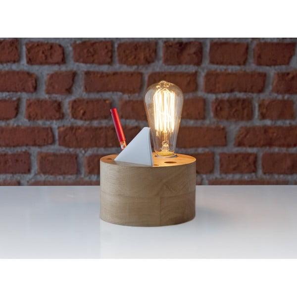 Drevená stolová lampa so stojančekom Facundo