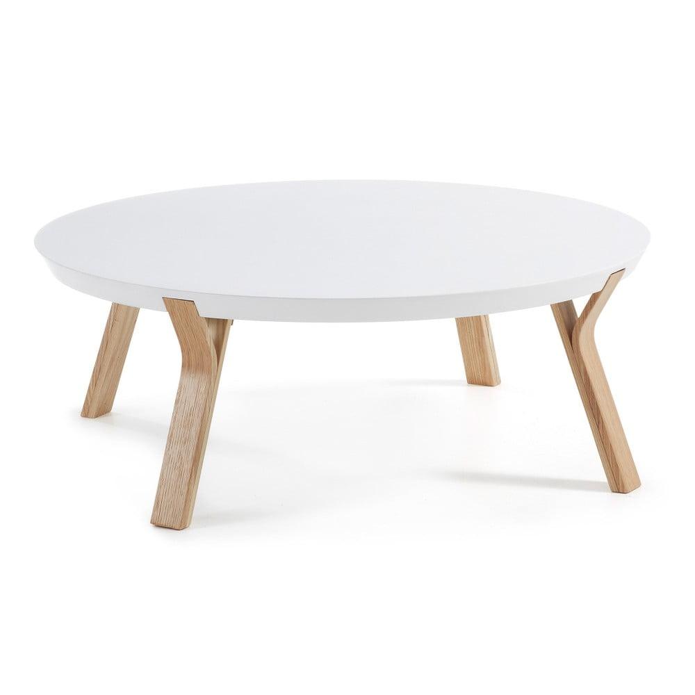 Biely konferenčný stolík La Forma Solid, Ø 90 cm