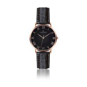 Pánske hodinky s čiernym remienkom z pravej kože Frederic Graff Rose Dom Croco Black Leather