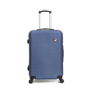 Modrý cestovný kufor na kolieskách BlueStar Porto, 64 l
