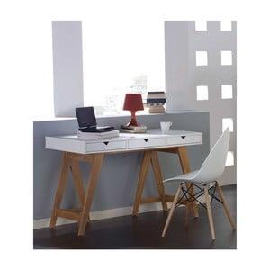 Biely konzolový stolík zborovicového dreva SOB Gaudino