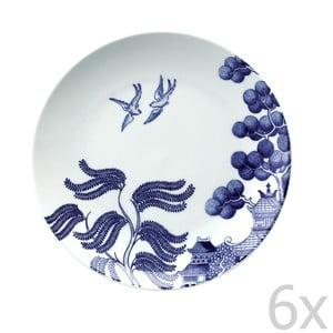 Sada 6 porcelánových tanierov Willow Love Story, 21 cm
