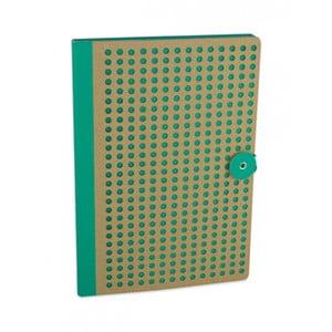Zelený zápisník Portico Designs Laser, 160stránok