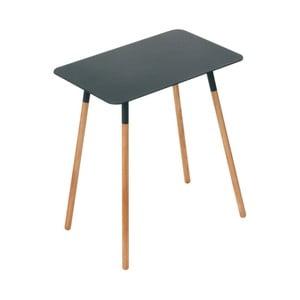 Čierny odkladací stolík YAMAZAKI Plain, 45 x 30 cm